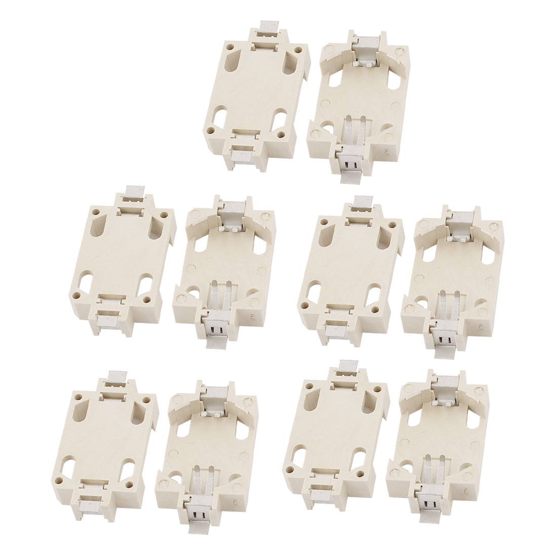 10pcs CR2032 SMD Lithium Coin Cell Button Battery Holder Socket Case White