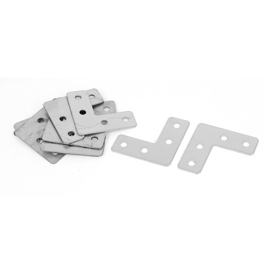 Furniture 40mmx40mm L Shape Right Angle Flat Plate Corner Brace Bracket 10Pcs