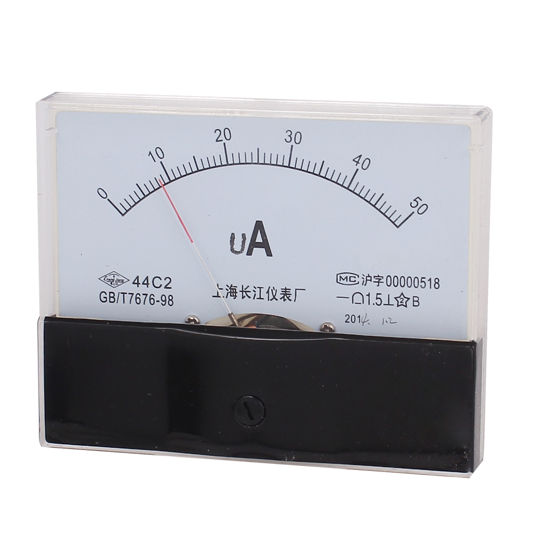 DC 0-50uA Class 1.5 Accuracy Analog Amperemeter Panel Meter Gauge 44C2