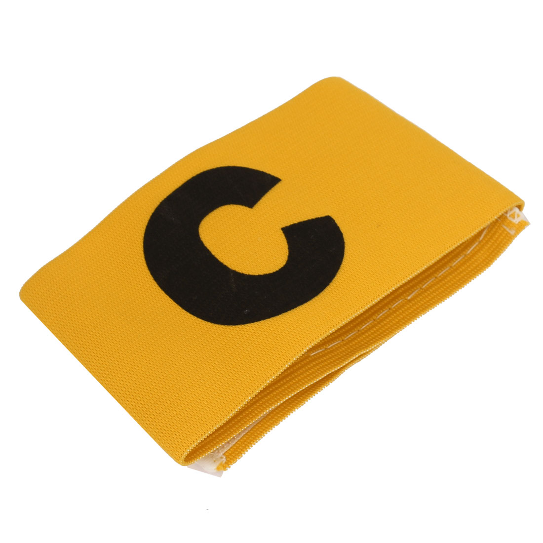 Letter C Pattern Soccer Football Tension Elastic Captain Armband Yellow
