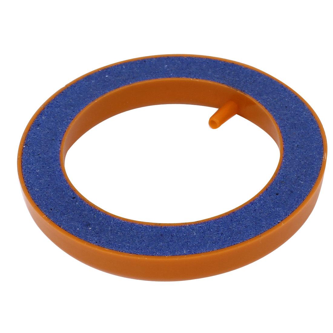 """Aquarium Pump Round Hydroponics Diffuser Bubble Airstone Orange Blue 4"""" Dia"""