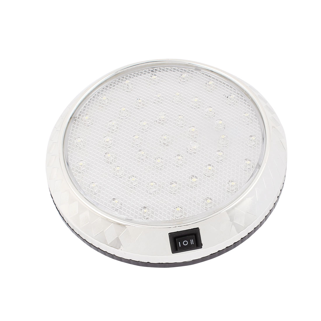 DC 12V White 46 LED Car Round Dome Roof Ceiling Interior Light Lamp