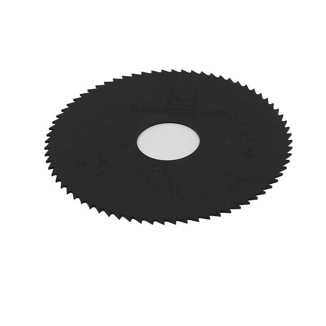 HSS 63mm x 0.6mm x 16mm 72T Teeth Round Cutting Disc Slitting Saw Cutter