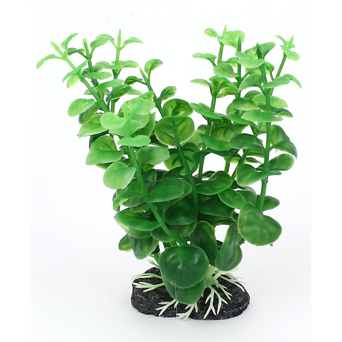 "5"" Height Aquarium Ornament Plastic Emulation Underwater Grass Plants Green"