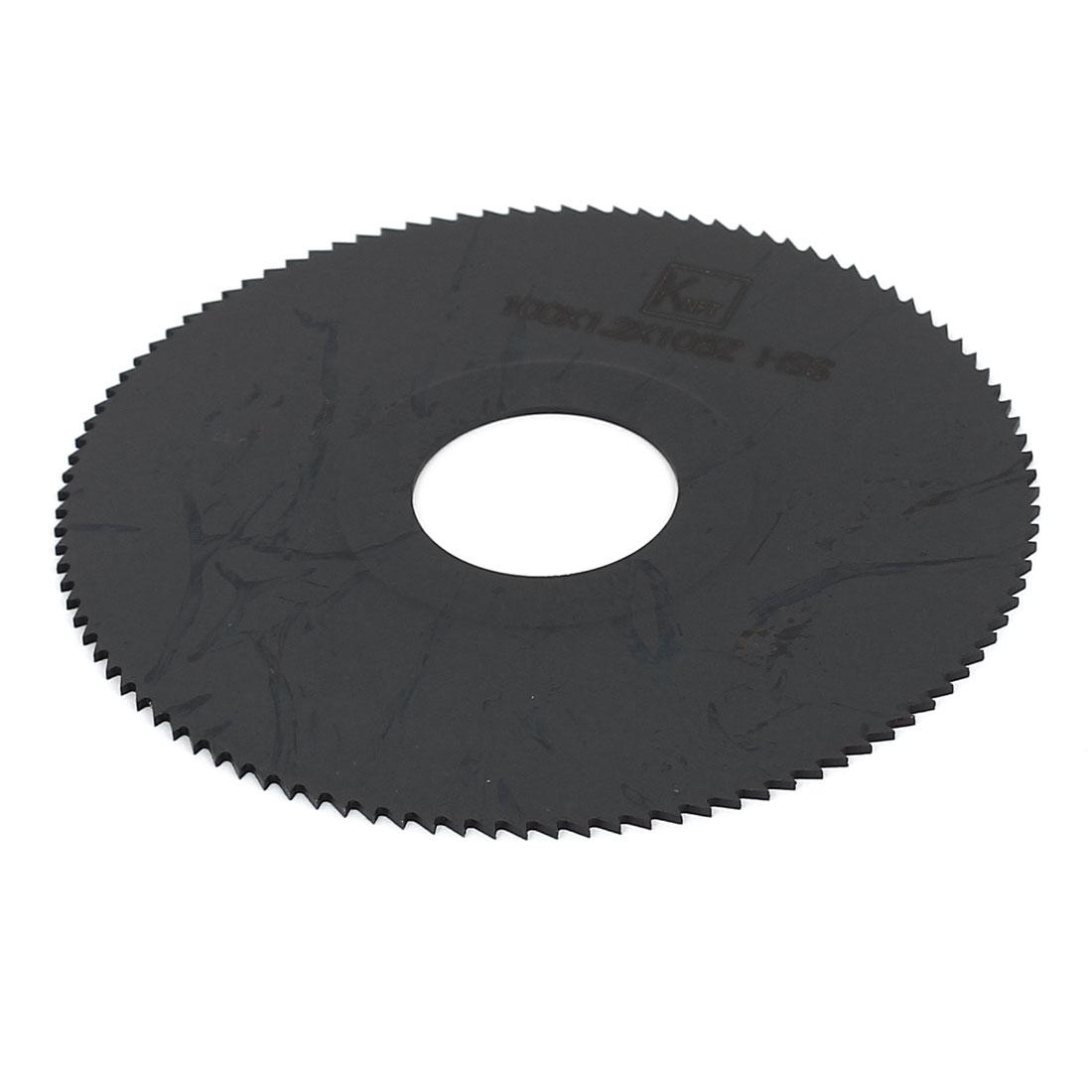 HSS 100mm x 1.2mm x 27mm 108T Teeth Round Cutting Disc Slitting Saw Black