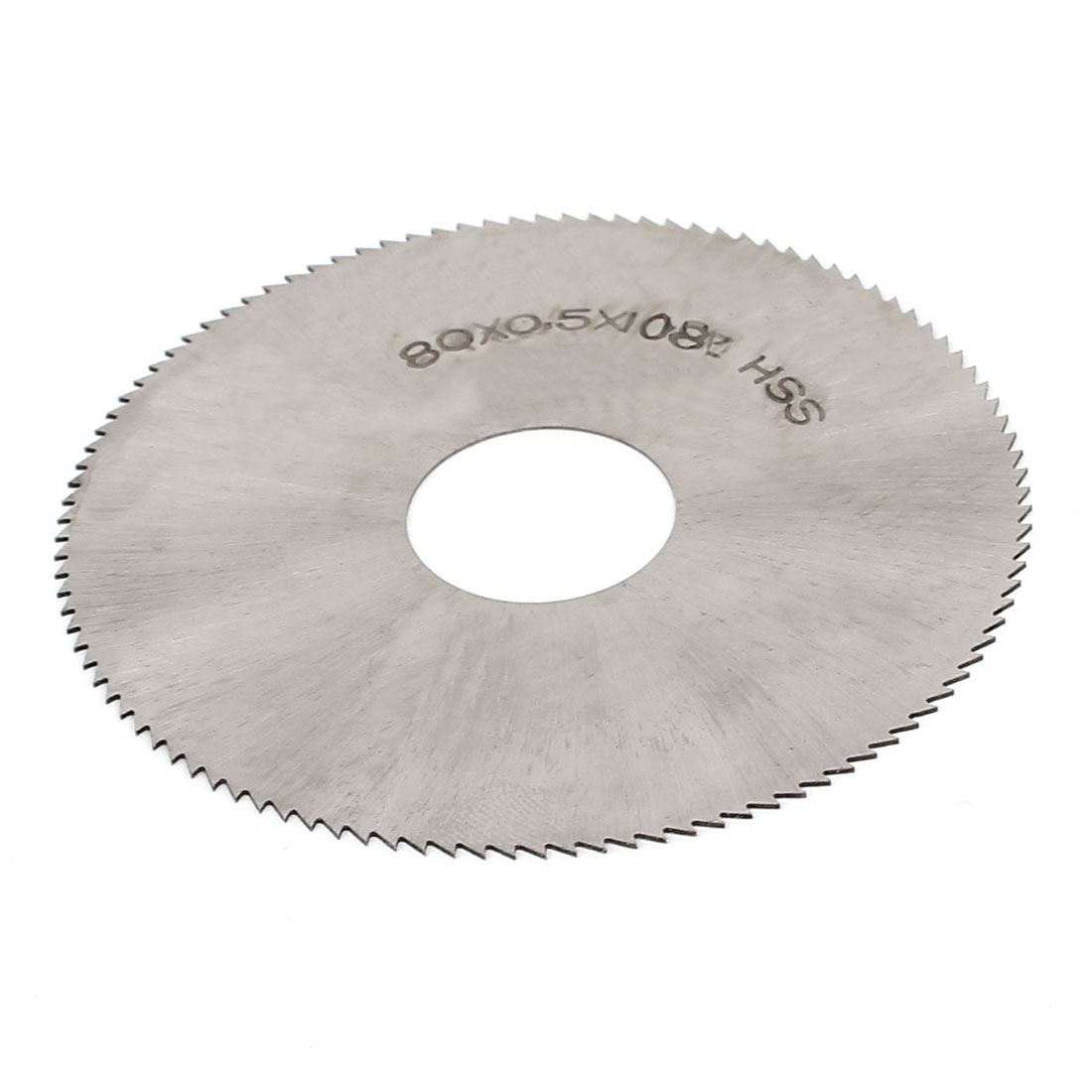 HSS 80mm x 0.5mm x 22mm 108T Teeth Round Cutting Disc Slitting Saw Cutter