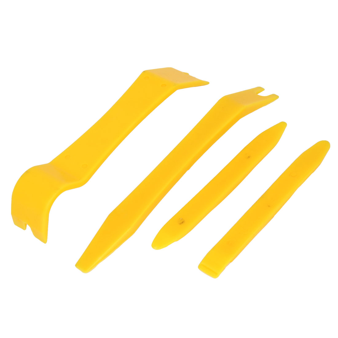 Yellow Plastic Car Truck Audio System Repair Dismantle Tools 4 in 1