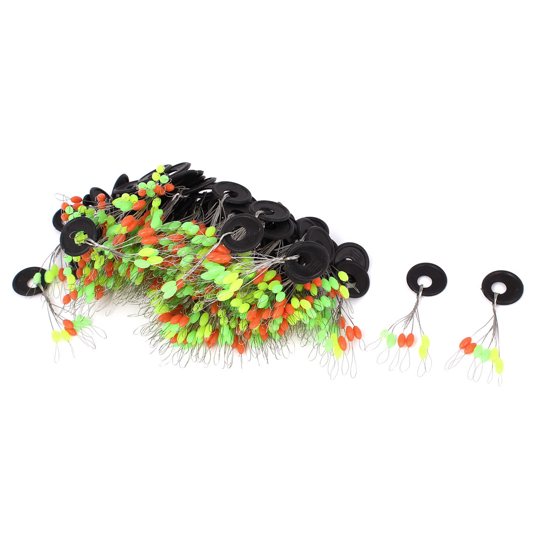 100Pcs Plastic Round Ring Oval Float Fishing Bobber Stopper Multicolor