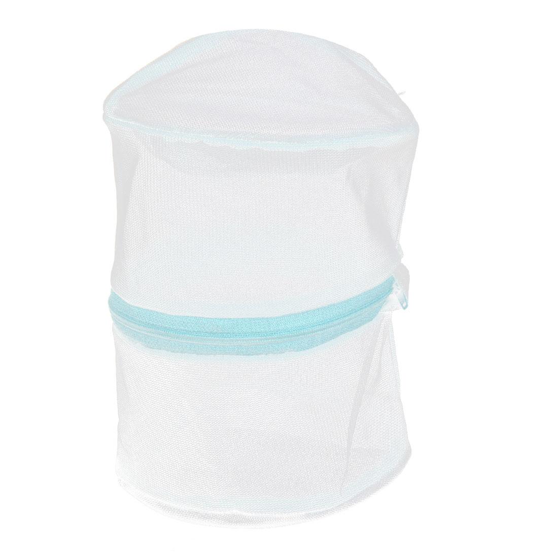 Green Net Mesh Basket Net Zipped Bra Underwear Socks Bag Laundry Washing Machine Nylon