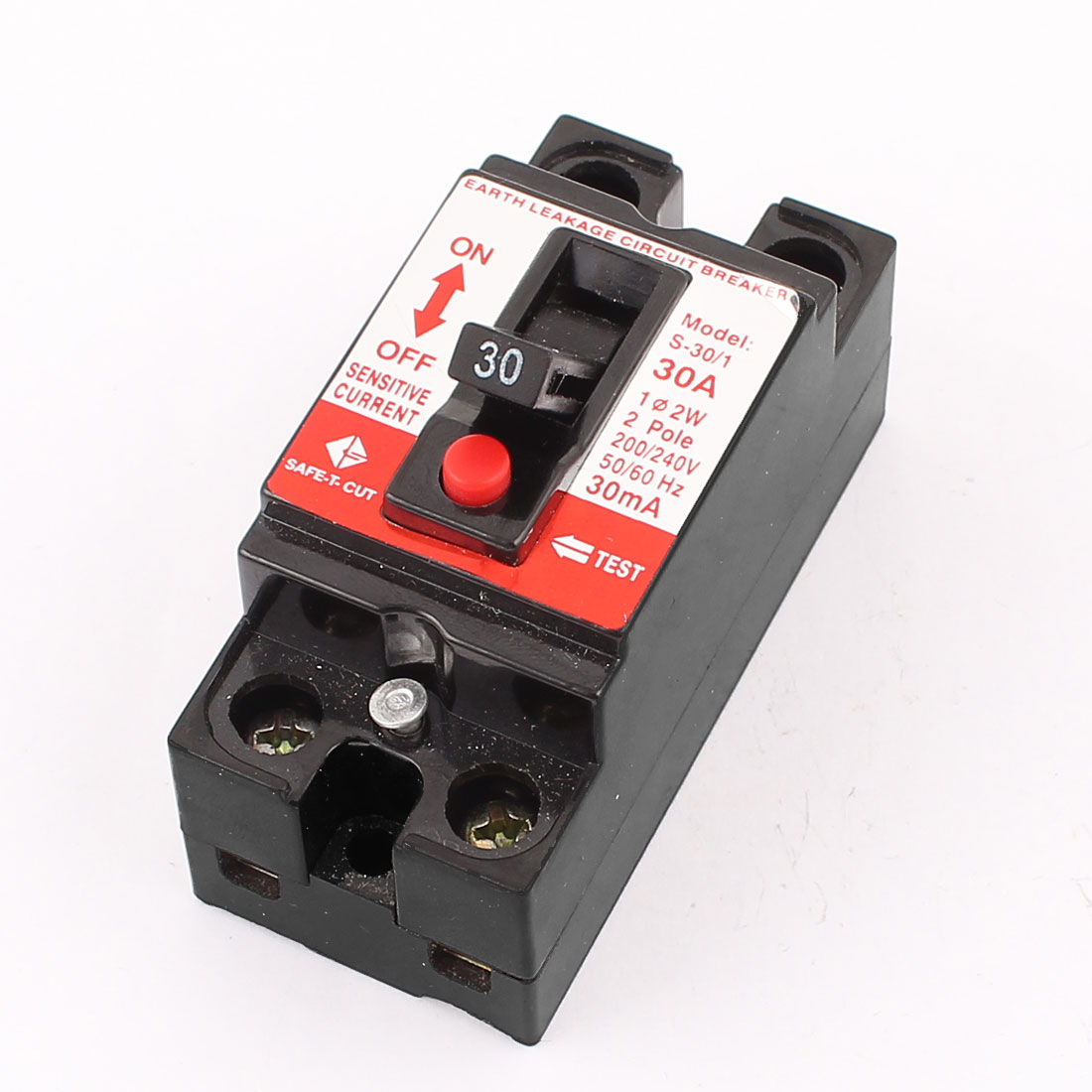 AC 200/240V 30A 2 Pole Earth Leakage Protection Circuit Breaker S-30/1