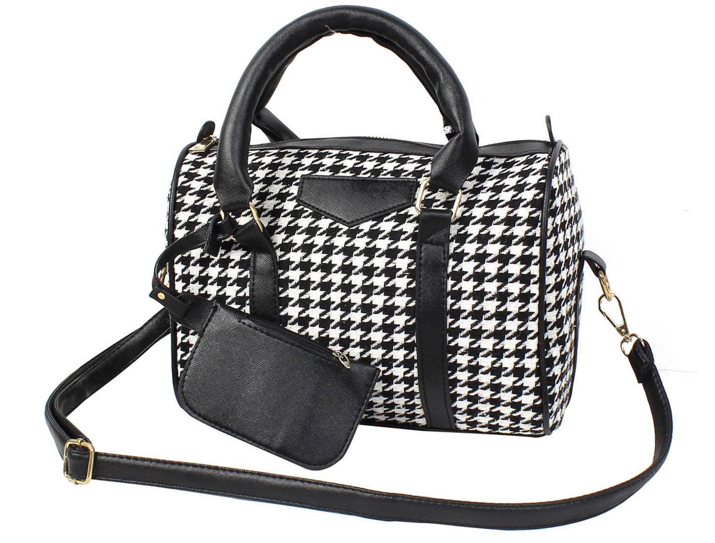 2015 New Woman Houndstooth Tote Messenger Crossbody Handbag Shoulder Bag