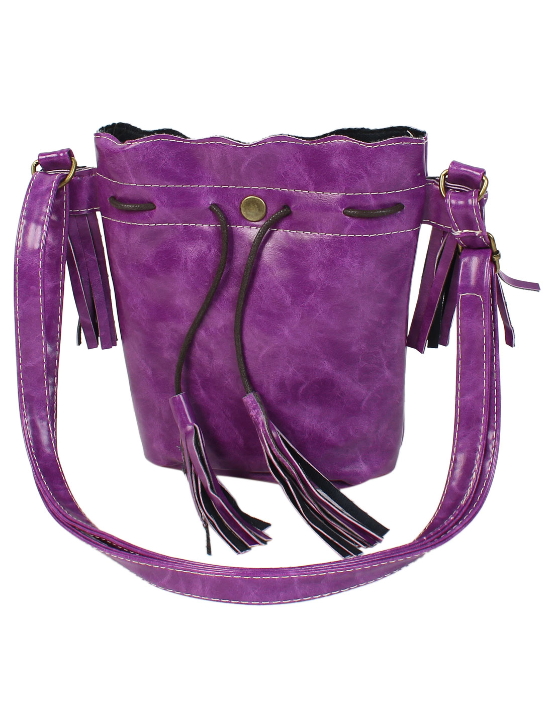 New Tassel Handbag Women Shoulder Messenger Hobo Bag Purse Satchel Purple