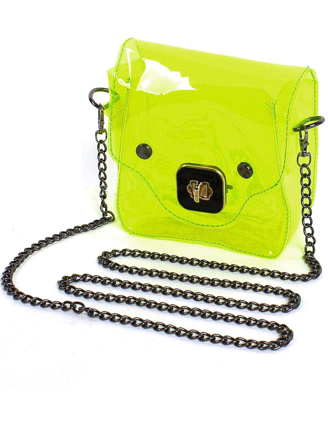 2015 Mini New Transparency Clear Cute Pig Pattern Handbag Shoulder Bag Green