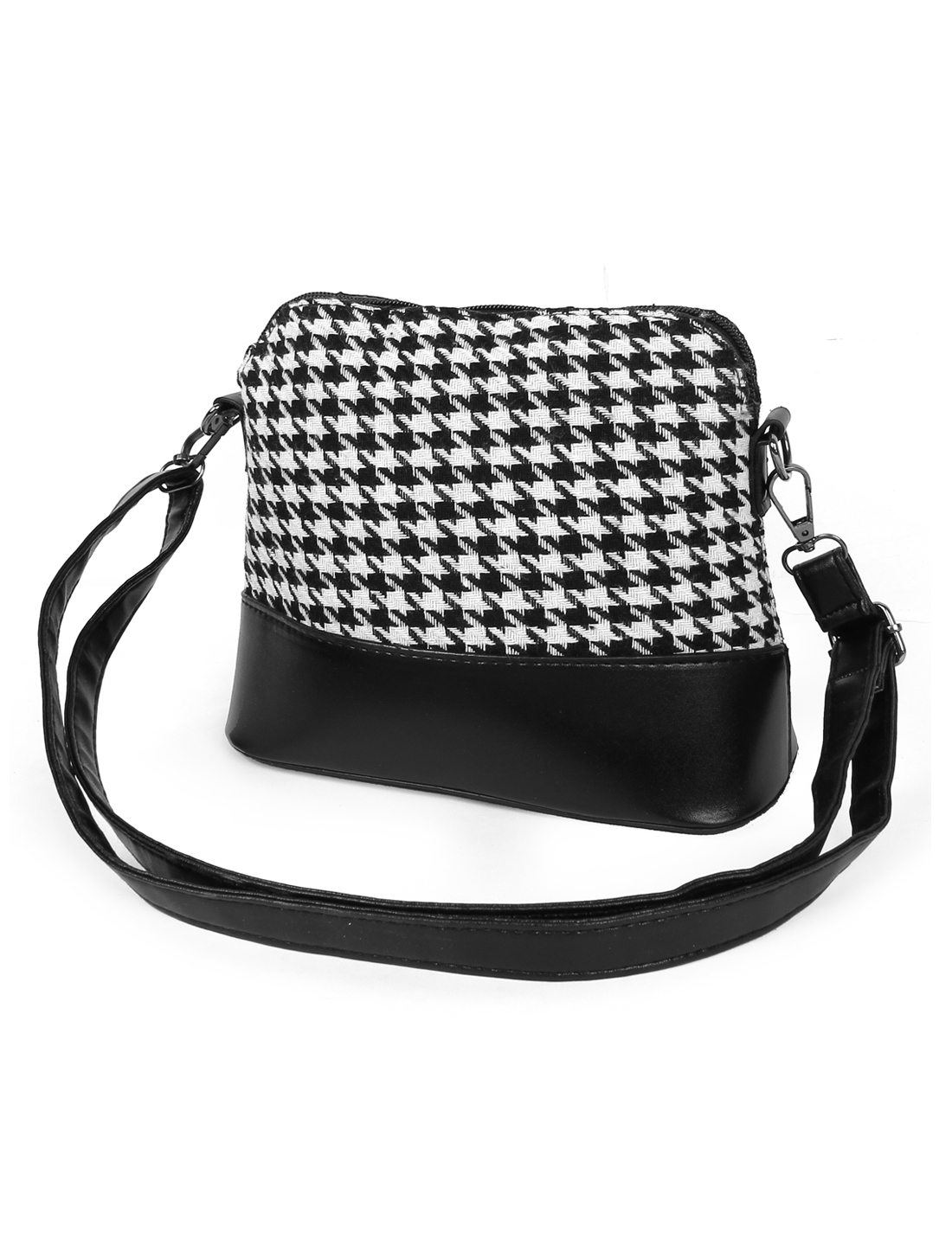 Cute New Houndstooth Cosmetic Messenger Satchel Crossbody Shoulder Bag