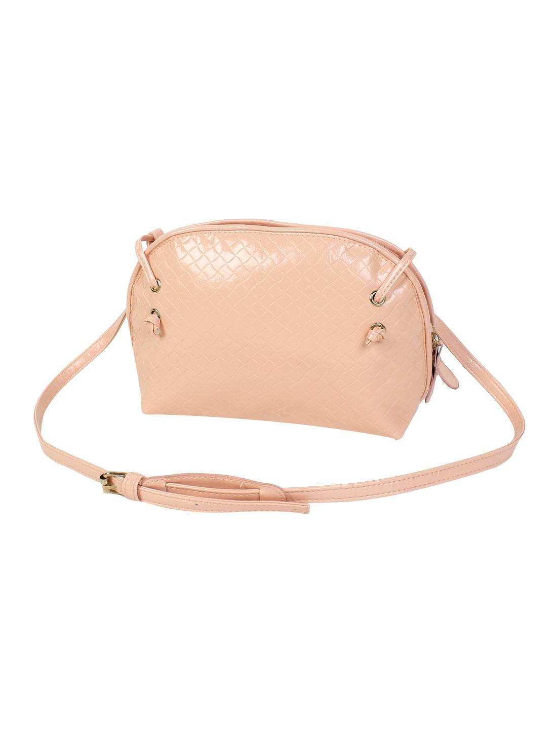 Women PU Tote Satchel Messenger Bag Casual Purse Cross Body Shoulder Handbag Pink
