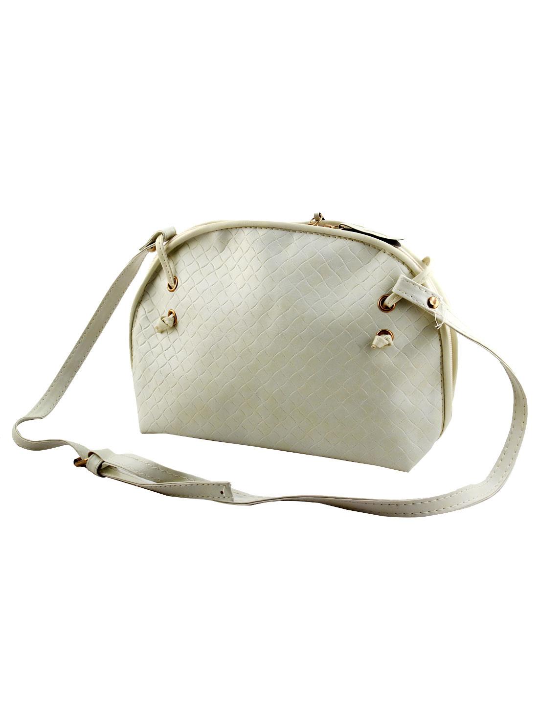 Women PU Tote Satchel Messenger Bag Casual Purse Cross Body Shoulder Handbag Beige