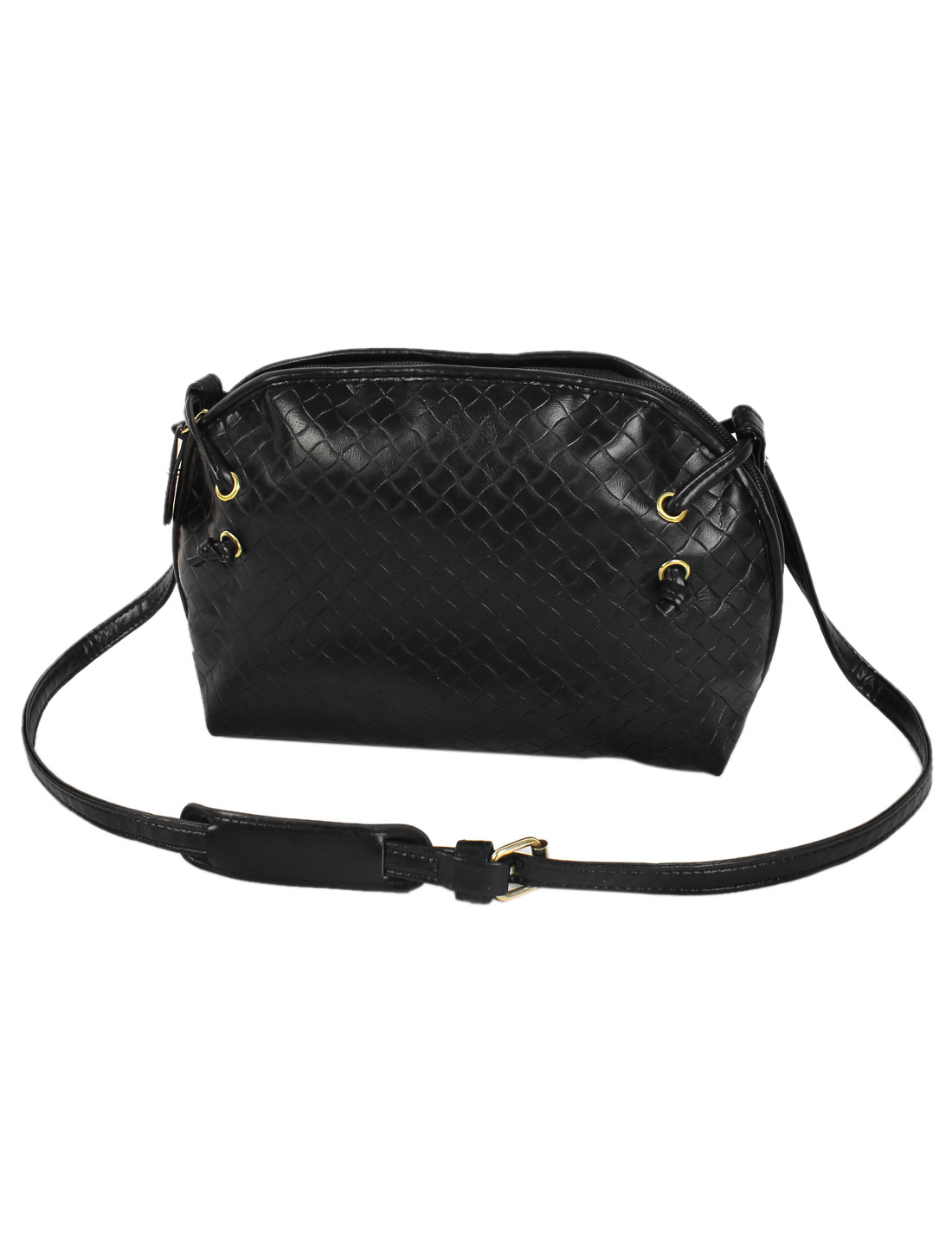 Women PU Tote Satchel Messenger Bag Casual Purse Cross Body Shoulder Handbag Black