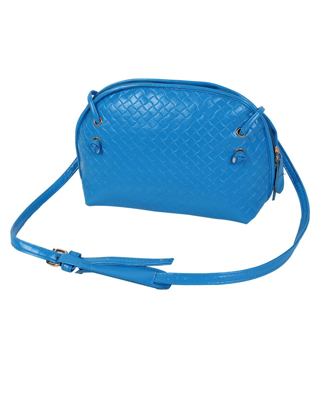 Women PU Tote Satchel Messenger Bag Casual Purse Cross Body Shoulder Handbag Blue