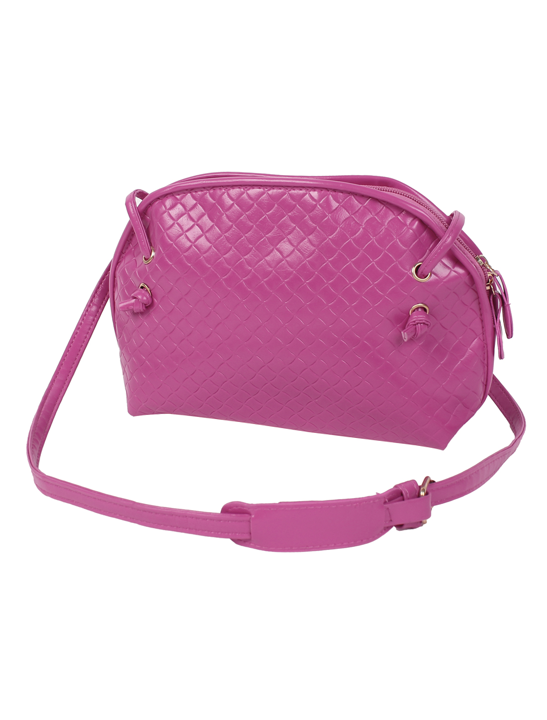 Women PU Tote Satchel Messenger Bag Casual Purse Cross Body Shoulder Handbag Fuchsia