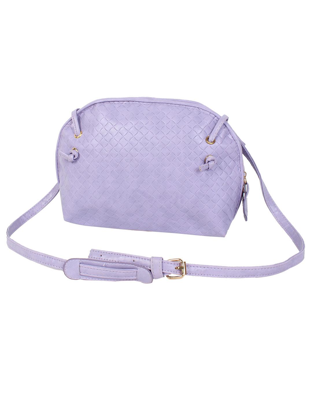 Women PU Tote Satchel Messenger Bag Casual Purse Cross Body Shoulder Handbag Purple