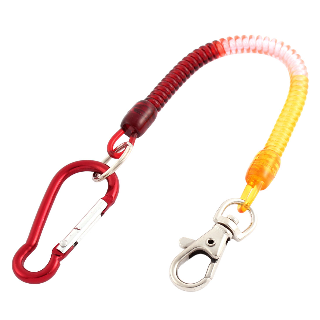 Carabiner Hook Lobster Clasp Spring Stretchy Coil Key Chain Cord