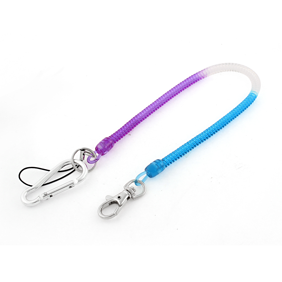 Flexible Stretchy Lanyard Spring Cord Strap Keychain Rope Key Holder Pin