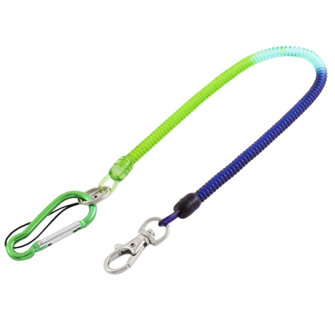 Flexible Stretchy Coil Cord Elastic Rope Strap Spring Telephone Key Chain Holder Pin