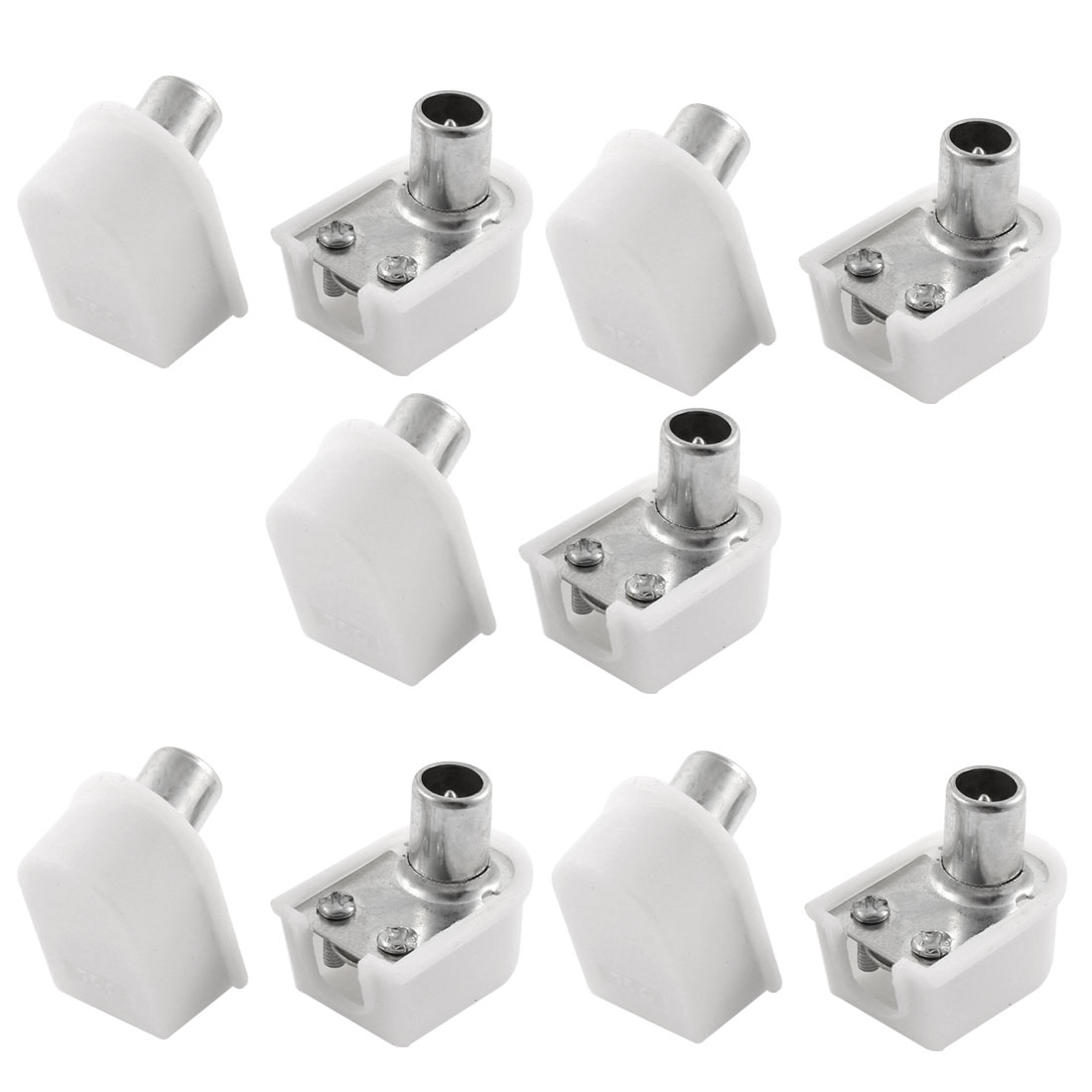 Screw Type RF Male CATV TV FM Antenna Jack Coax Connector Adapter 10 Pcs