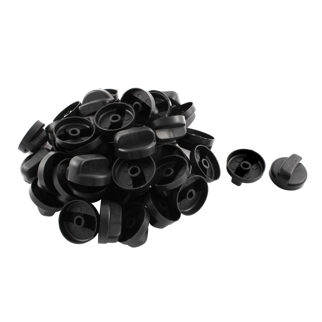 Kitchen Black Plastic Rotary Switch Range Knob for Gas Stove 50 Pcs