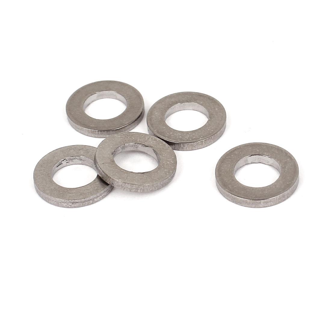 5pcs M6 Silver Tone Titanium Ti Metric Plain Flat Washer DIN 125A for Bolt Screw