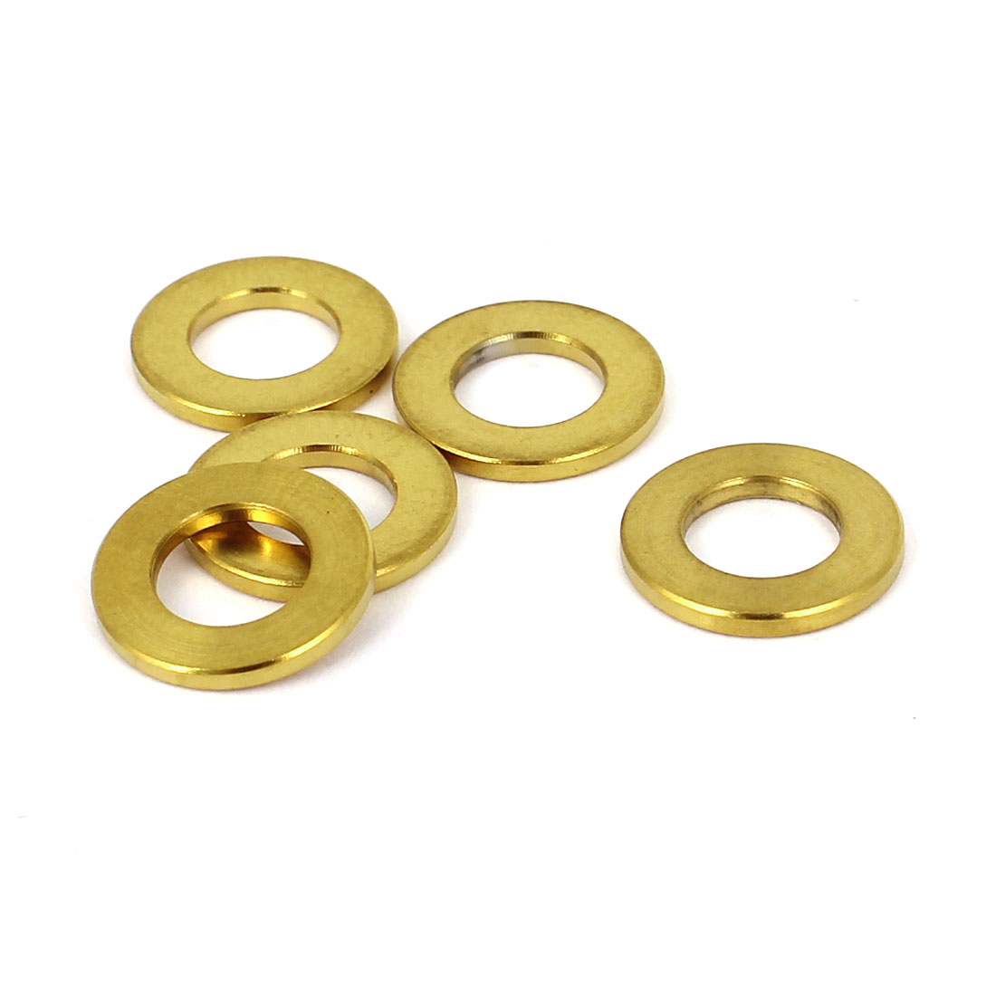 5 Pcs M6 Gold Tone Titanium Ti Metric Plain Flat Washer DIN 125A for Bolt Screw