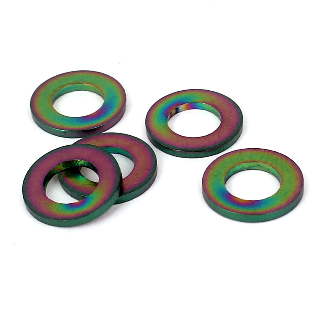 5pcs M5 Colorful Titanium Ti Metric Flat Washer DIN 125 for Bike Motorcycle Car