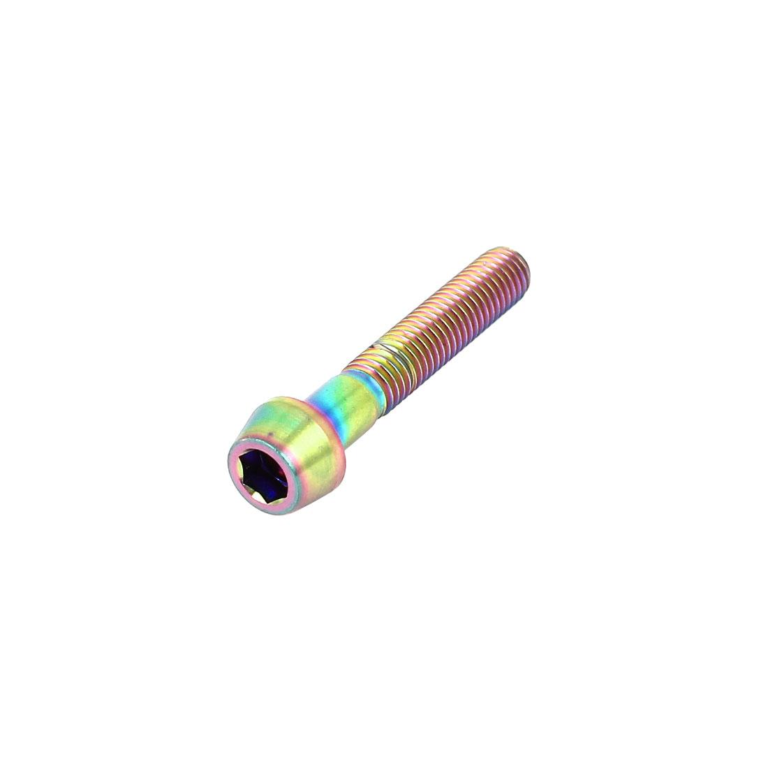 M5x30mm Colorful Titanium Hex Socket Taper Head Bolts Screws Seat Post Fasteners