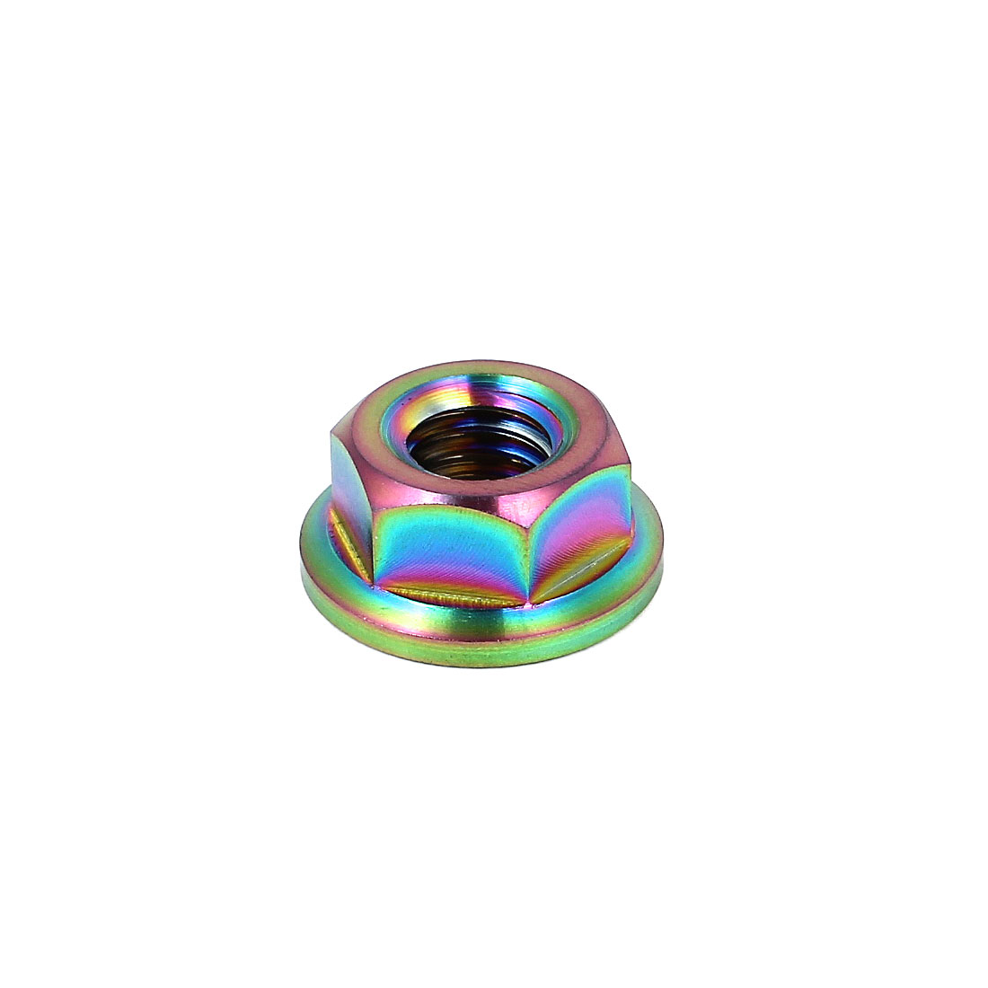 8mm High Colorful TC4 Titanium Ti Hex Flange Nut M8x1mm for Bike Motorcycle Car