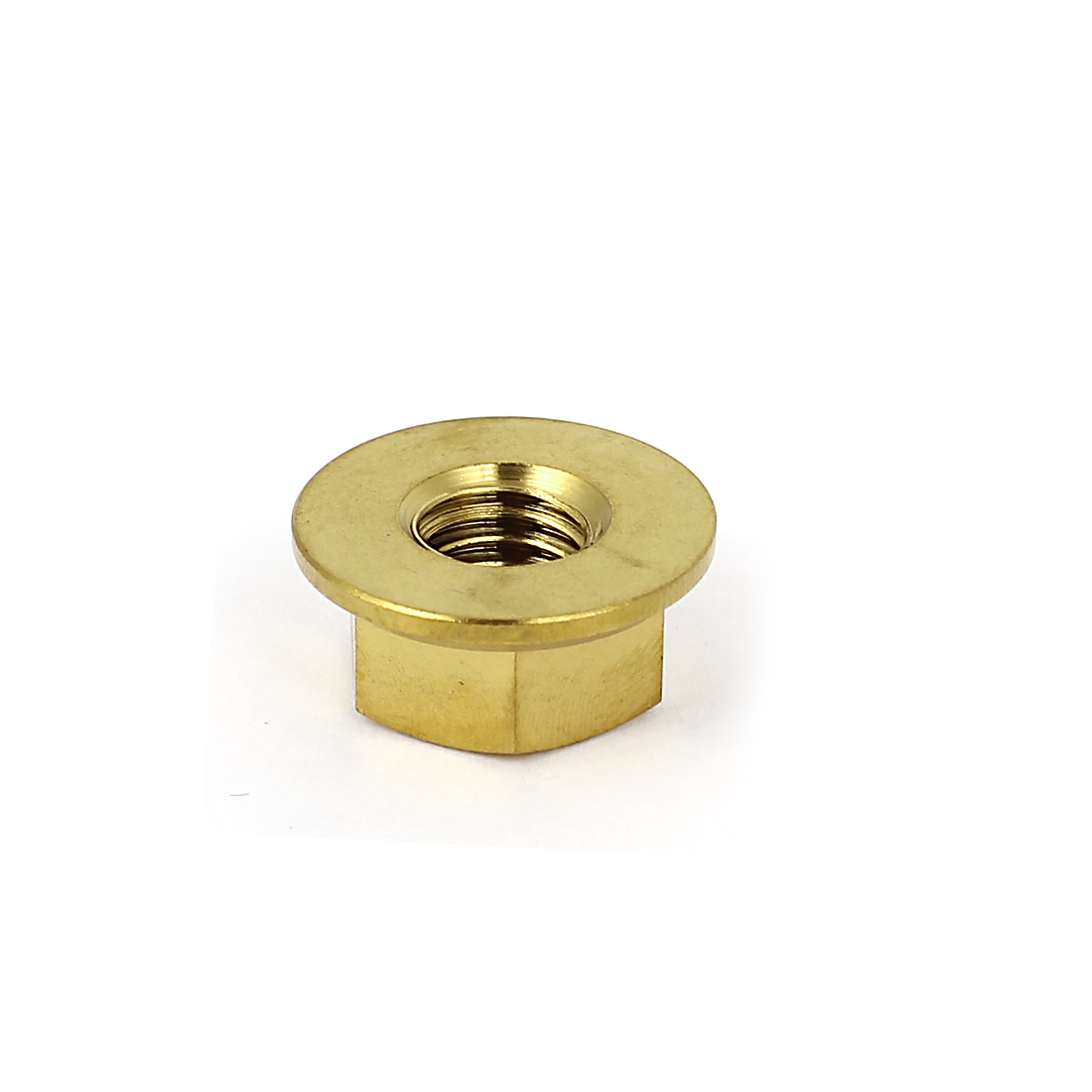 M8x1mm Gold Tone TC4 Titanium Ti Hex Flange Nut for Bike Motorcycle Car Boat