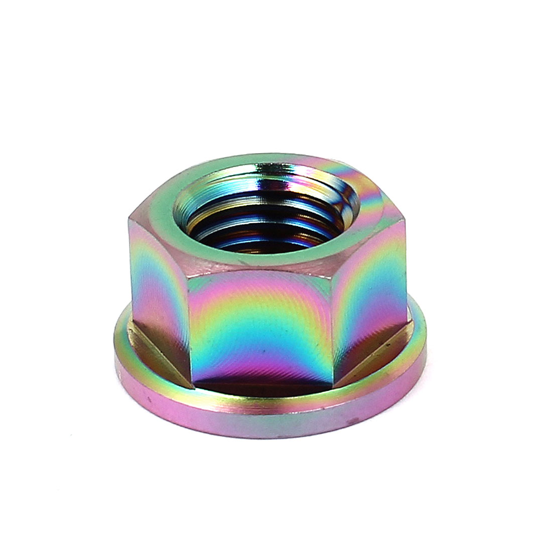 DIN 6923 Metric M10x1.25mm Colorful TC4 Titanium Hex Head Flange Nut 10mm High