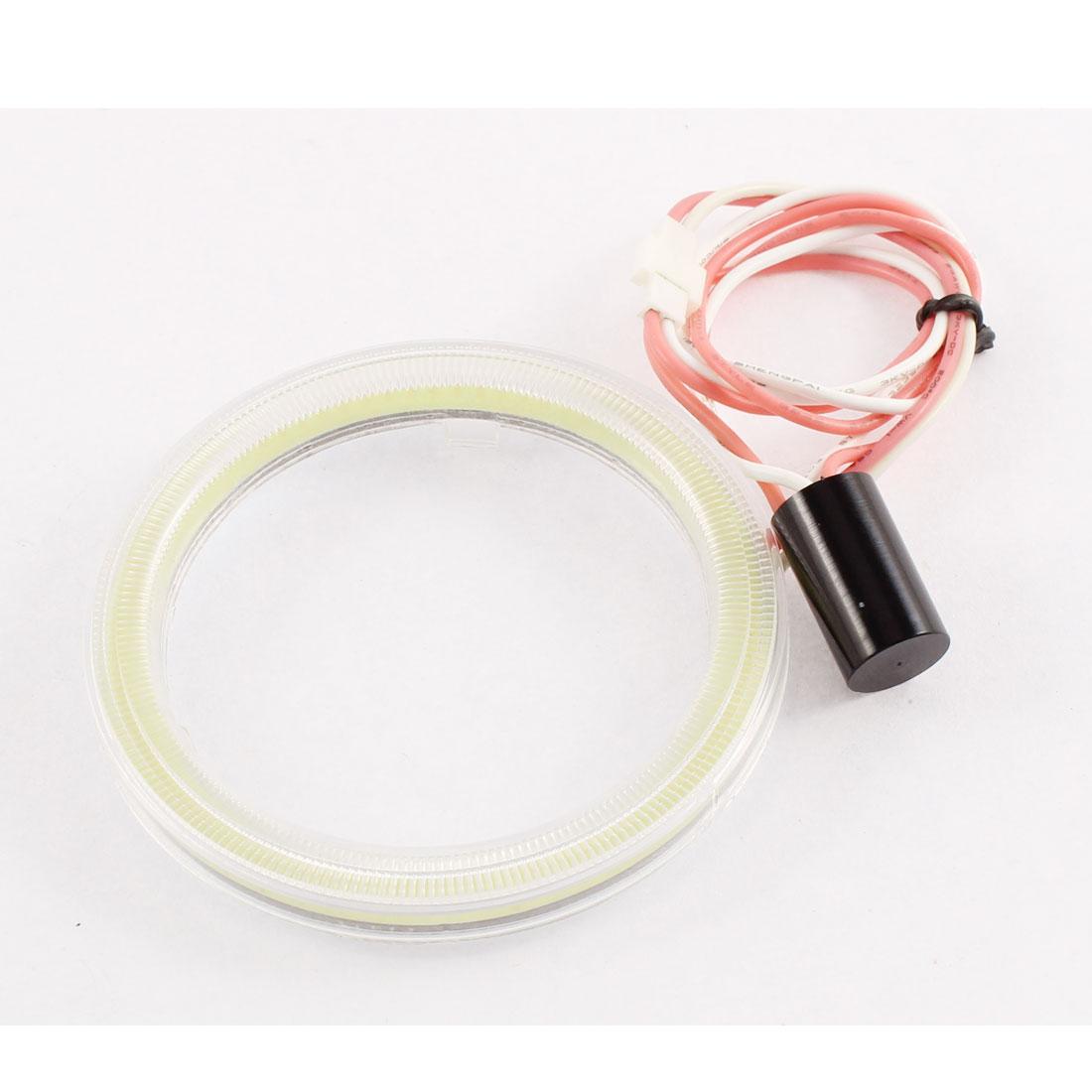 White Angel Eye Ring Headlight COB Lamp Spare Blub 70mm Dia for Auto Car
