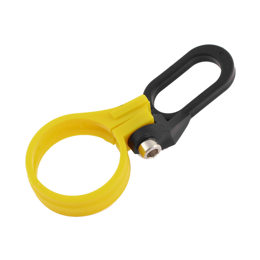 36mm Hole Dia Yellow Black Wire Clamp Clip Organizer for Motorcycle Front Shock
