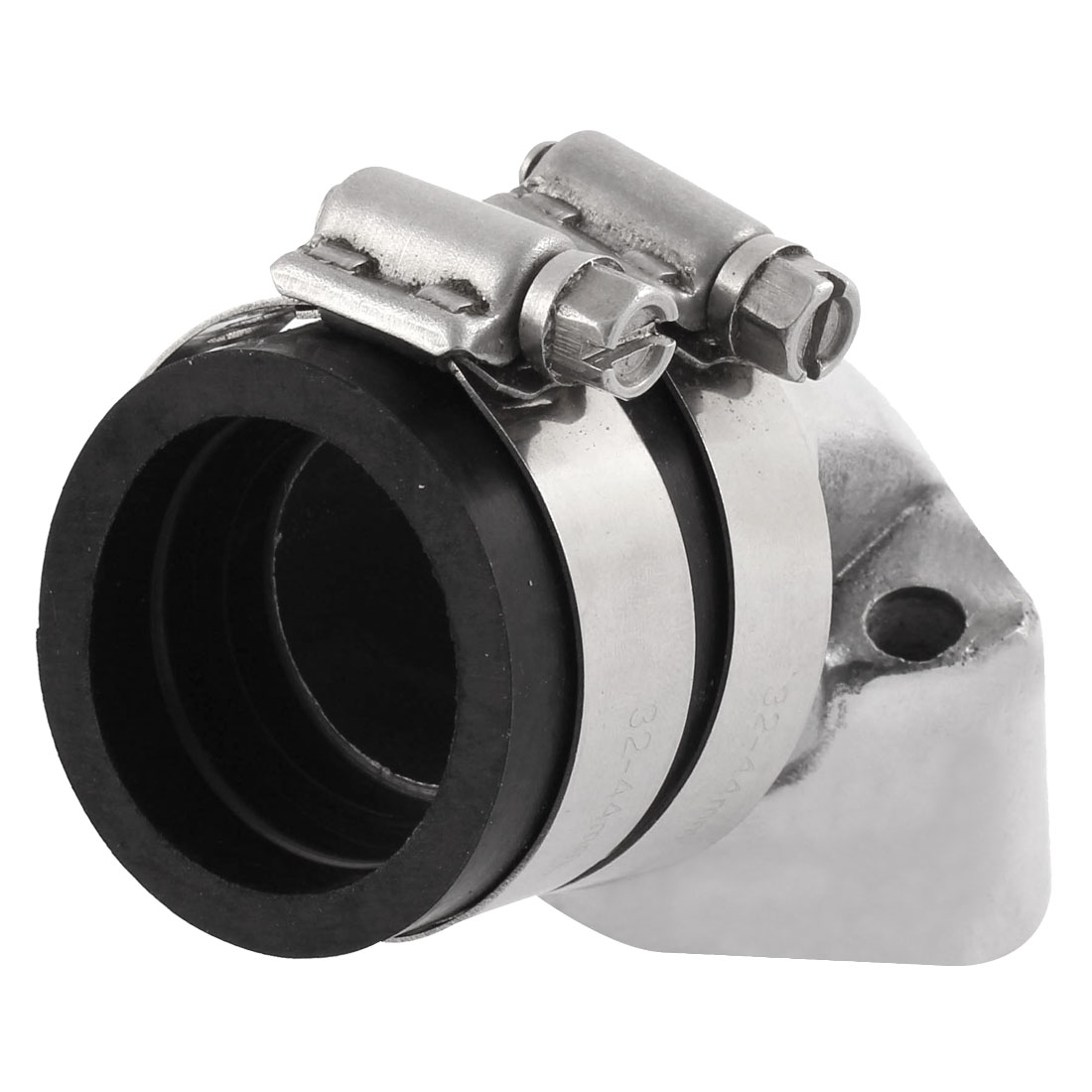 32mm Inner Dia Sliver Tone Carburetor Air Intake Manifold Repalcement for Motorcycle Scooter