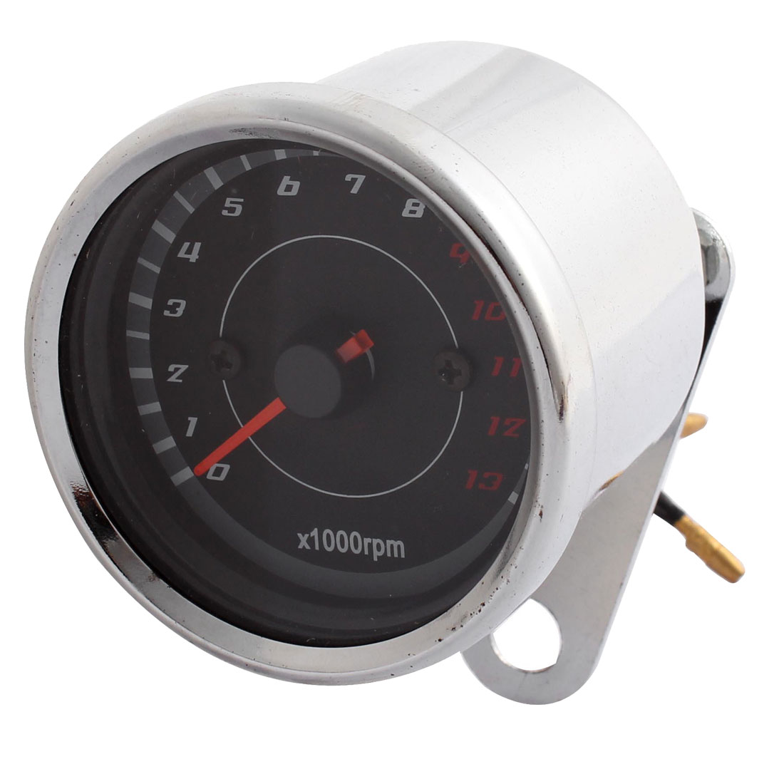 0-13000RPM Motorbike Stainless Steel Housing Tachometer Speedometer Tacho Gauge