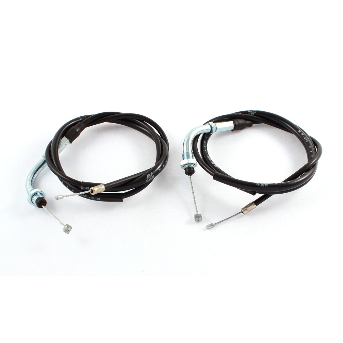 2 Pcs 100cm x 1cm Black Flexible Throttle Gas Pedal Cable Wire Assembly for CG 125