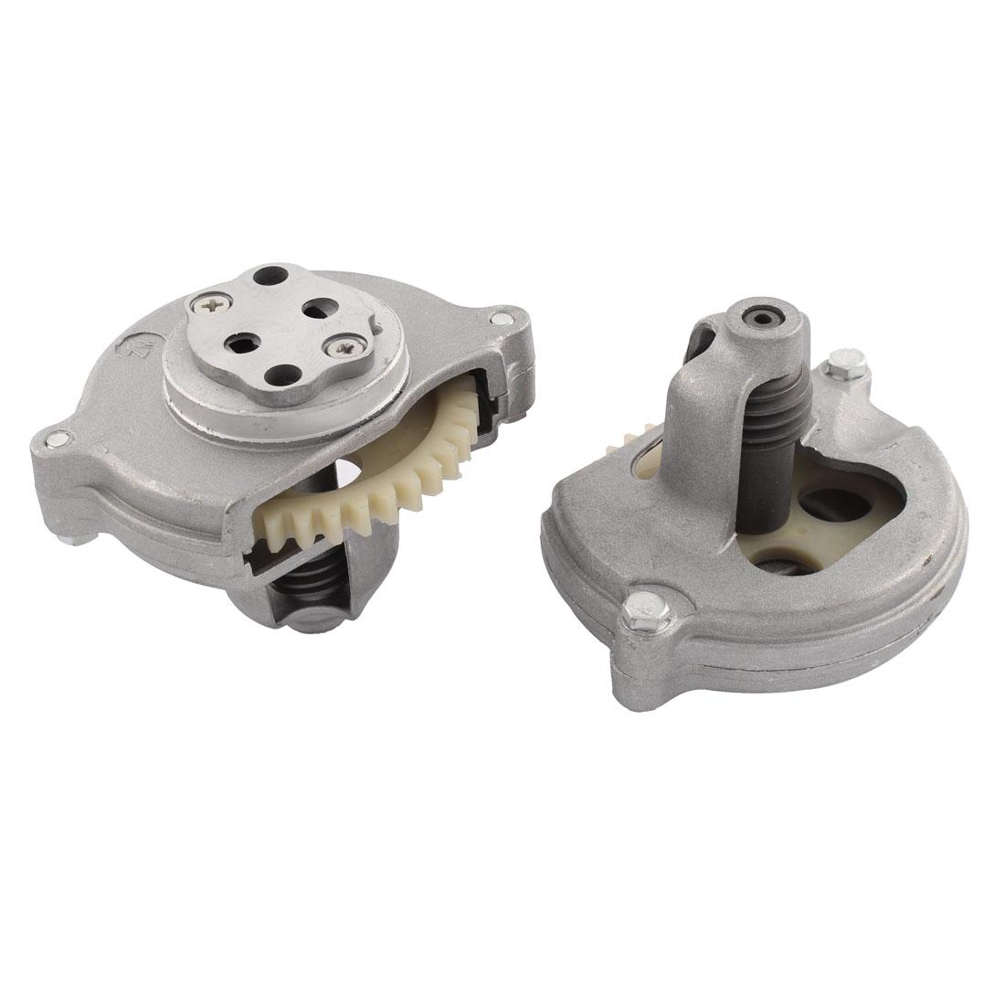 Pair Sliver Tone Plastic Metal Engine Motor Oil Fuel Pump for CG125 Motorcycle