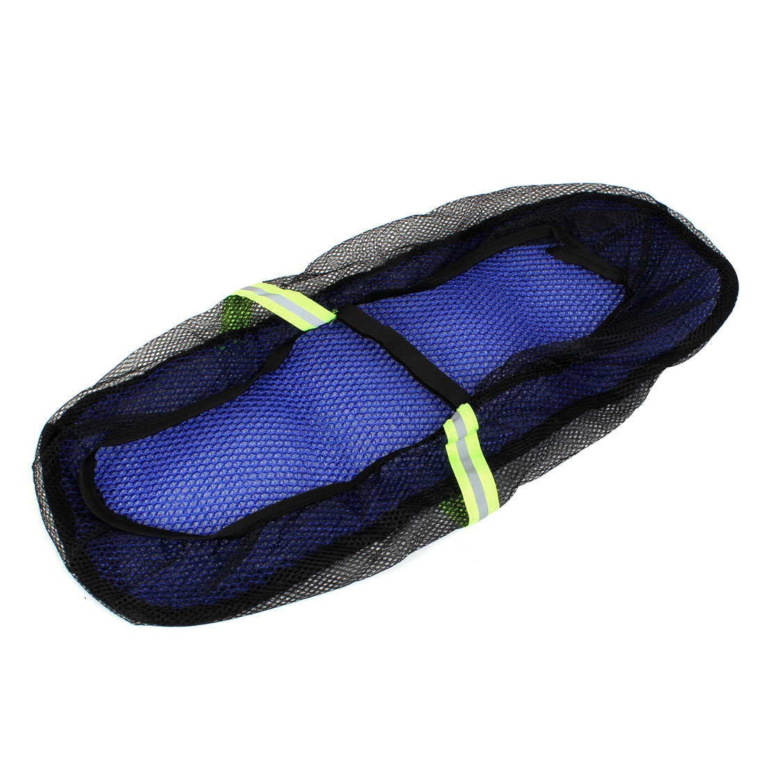 Motorcycle Blue Elastic Detachable Closure Reflections Mesh Seat Cover for CN GN