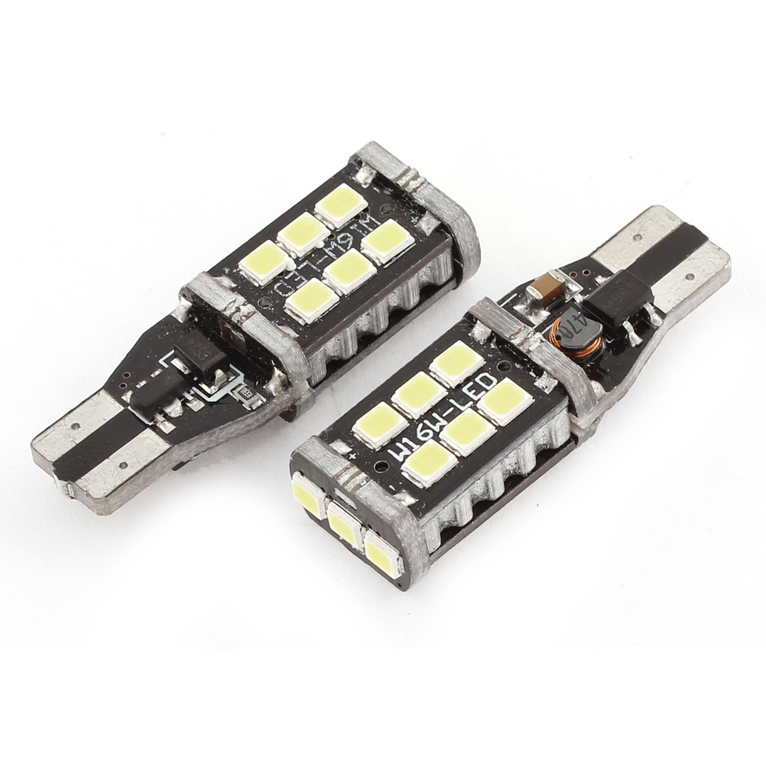 2 Pcs T15 3528 15 SMD LED Bulb White Reverse Back Up Light