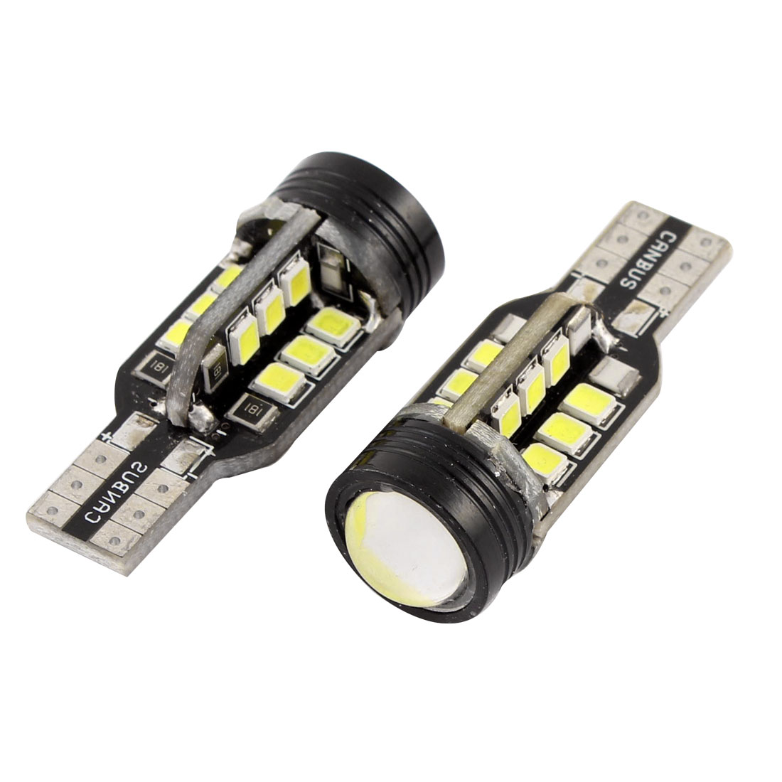 2 Pcs T15 3528 24 SMD LED Bulb White Reverse Back Up Light 912 914 3W Interior