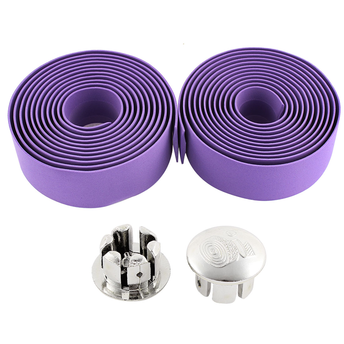 2 Pcs Purple Foam Road Bike Handlebar Tape Handle Bar Wrap
