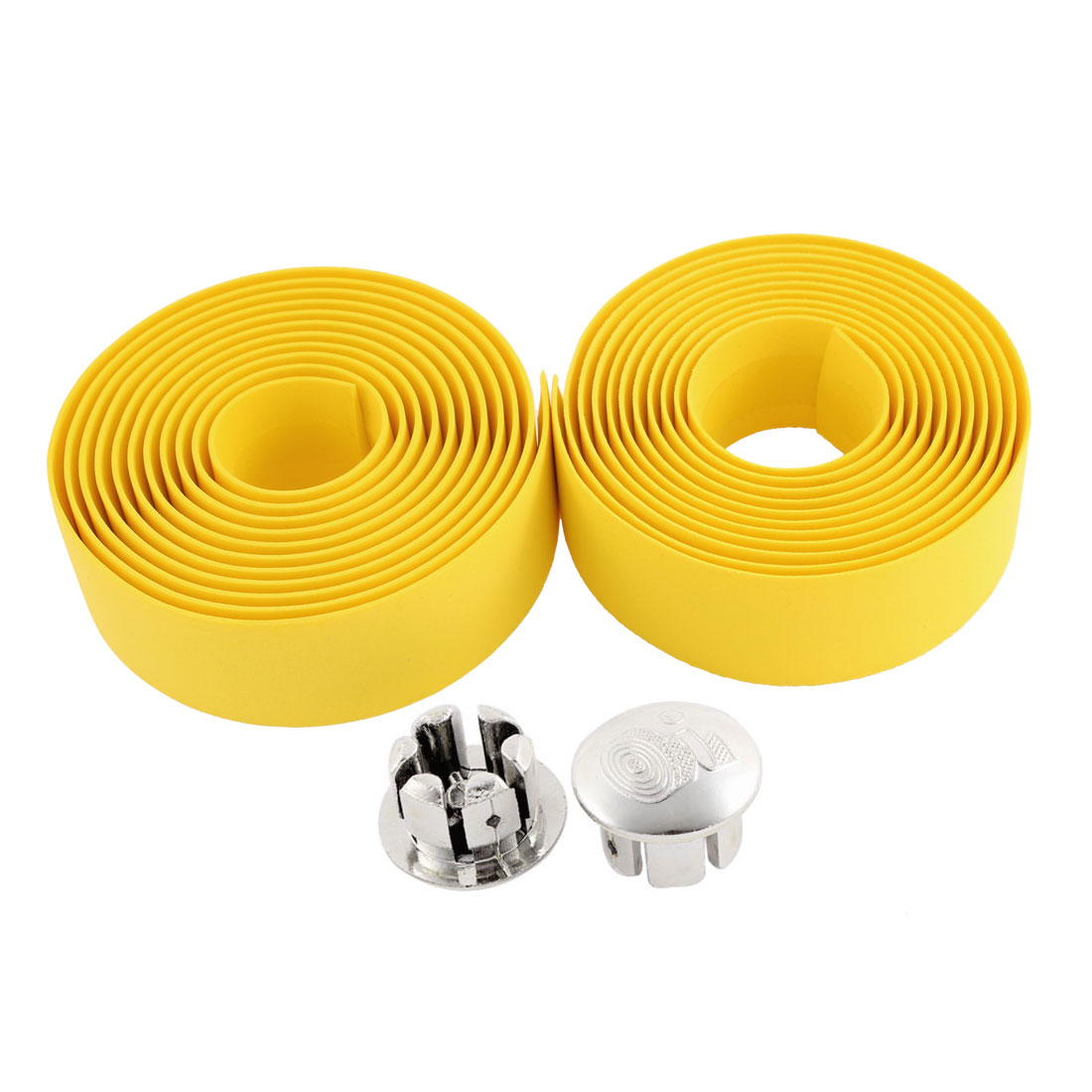 2 Pcs Yellow Road Bike Handlebar Tape Bicycle Bar Wrap 200cm Length