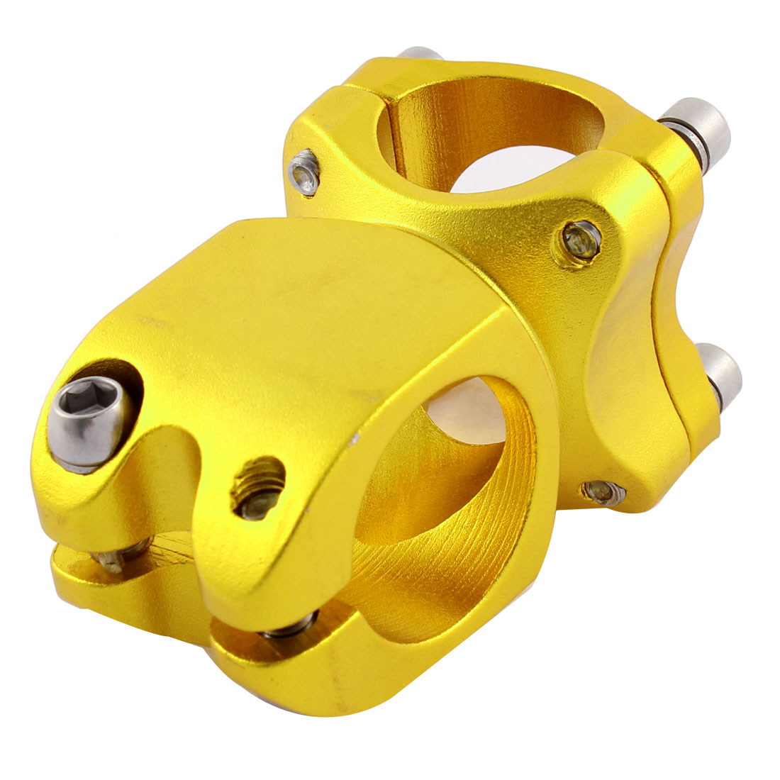 25.4mm x 32mm MTB Road Cycling Bicycle Bike Handlebar Stem Gold Tone