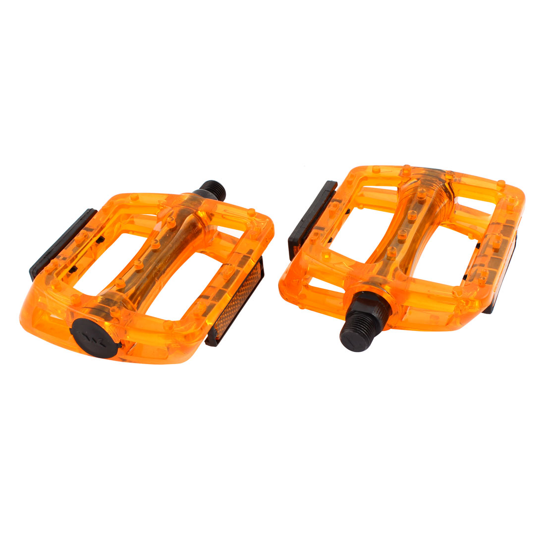 2 Pcs Fixed Gear Bike Bicycie Plastic Platform Pedal Part Orange