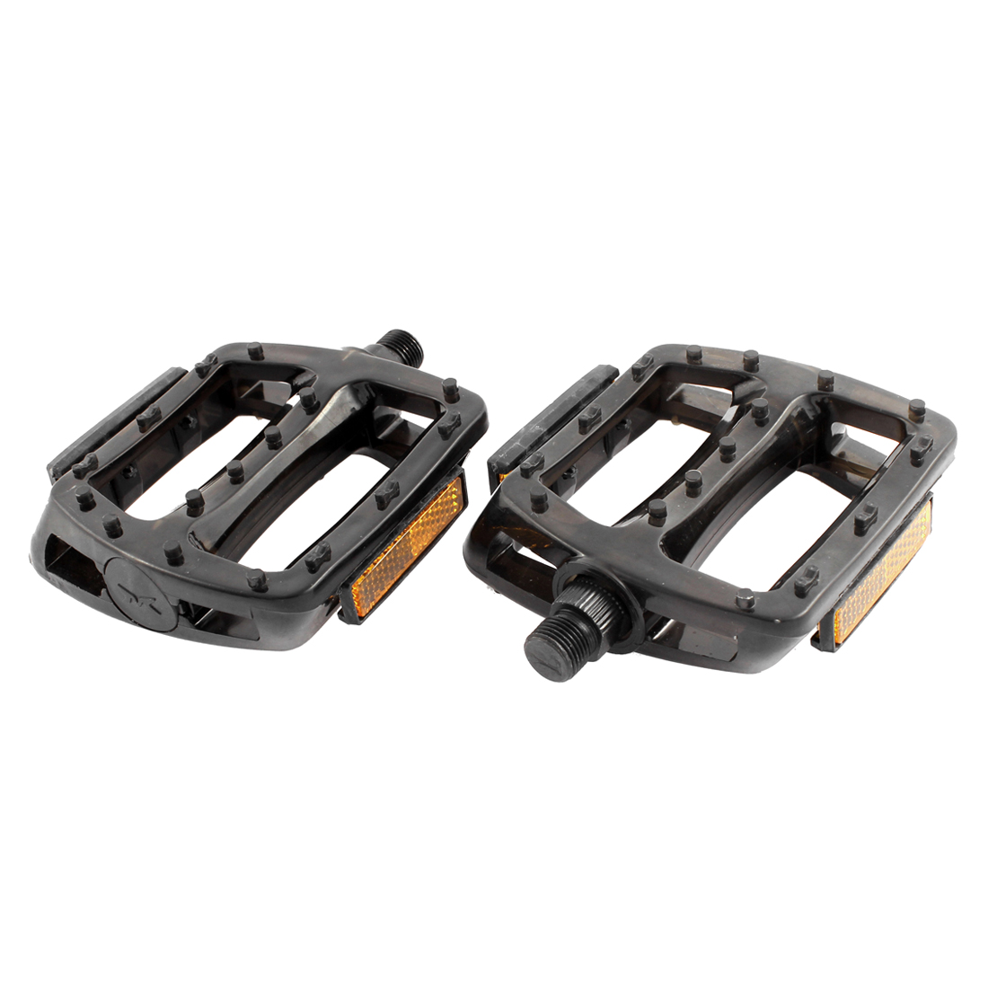 Pair FIXED GEAR Bike Bicycle Plastic Nonslip Platform Flat Cage Pedals Black